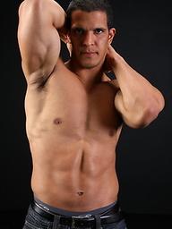 Latino stud Alexandro shows his uncut cock