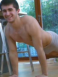 Young Straight Personal Trainer Chris gets a Hand & How Hard is That Uncut Cock!