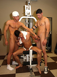 Mason Wyler, Anthony, Jonny T., Miguel Prange and Sebastian Taylor gay orgy