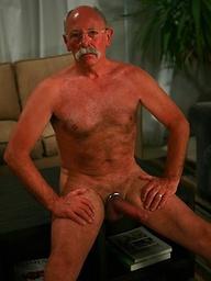 Hairy grandad Bas van Dijk strokes dick