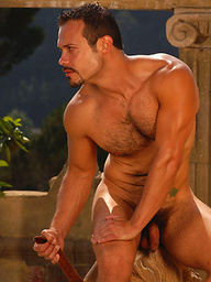 Hot muscle hairy man Eddy Mataro naked