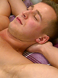 Muscular Straight Lad Alfie Gets his First Manhandling of That Big Uncut Cock!