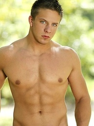 Hot muscle stud posing