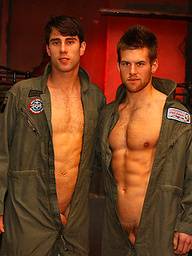 Two pilots jacking off