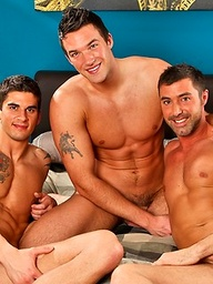 Muscle hunks Trystan Bull, Tyler Torro and Justin Beal goes threeome
