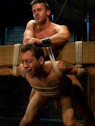 Logan Scott gets tied up and worked over for the first time.