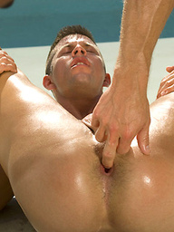 Kyle King invites his hunk buddy out of the pool and into his mouth and asshole