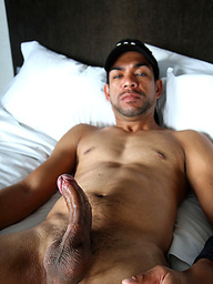 Dark skinned New Zealand hunk JD Ryan gets his ass opened for a hard cock