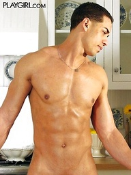 Carlos shows his perfect muscled body