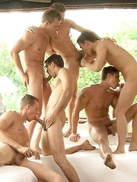 6 Hung Hungarians Orgy - CondomFree
