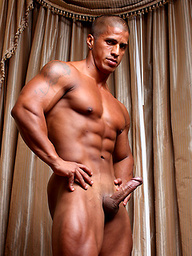 Ebony latino bodybuilder Timmy Riordan