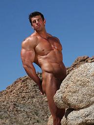 Zeb Atlas posing naked in a desert