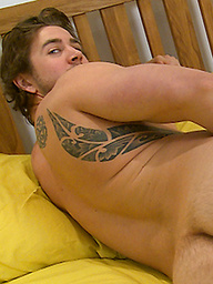 Young Straight Pup Nate Strips off