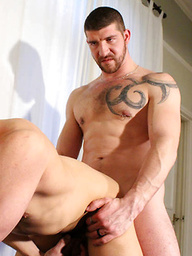 Big beefy bloke Jeff Stronger gets a hot horny servicing from fit handsome hottie Chase Reynolds