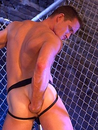 Jackson Lawless stretches his arse