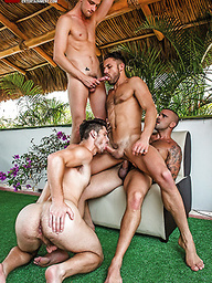 Damien Crosse, James Castle And Devin Franco Star In A Five-Man Orgy