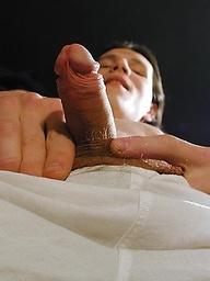 Flip masturbates after his college classes.