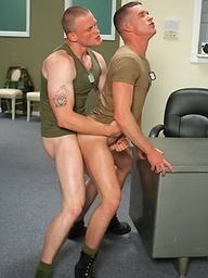 Soldiers Brandon Bangs and Jackson Lawless fuck