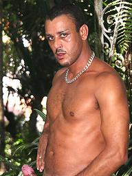 Dark latin guy Gomez Aguilar outdoors