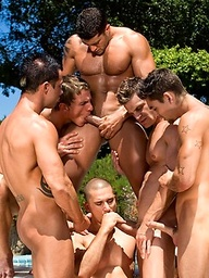 Rod Daily, Landon Conrad, Paul Wagner, Marcus Mojo, Cody Cummings, Johnny Torque and Anthony Romero gay orgy