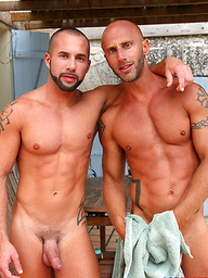 Sexy hunks Aymeric Deville and Craig Farell