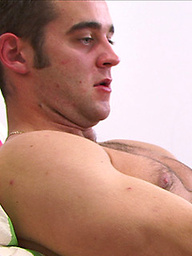 Hairy Str8 lad Bezza gets his first man wank by Kev - Then Kev blows Bezza's big uncut one!