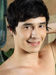 Damon Sparks shows off his thick mop of jet black hair, handsome face, and hot smooth body while he jerks his huge cock