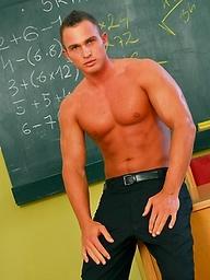 College teacher Giuseppe Pardi stripping