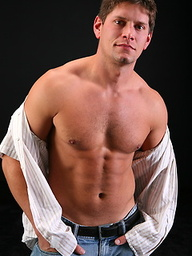 Hot muscle Curt masturbate