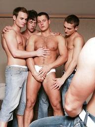 Glen Santoro, Julian Vincenzo, Adam Kubick, Jose Scott and Joe Donovan in gay orgy