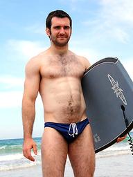 Hot australian hunk Josh on a beach