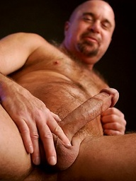 Bald muscled daddy Steve Parker