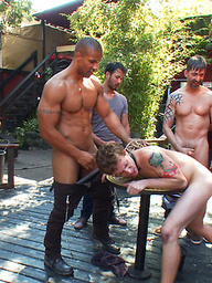 Sebastian Keys gets his ass stretched and pissed on in a public bar.