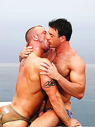 Gage Weston and Mitch Branson outdoor fuck
