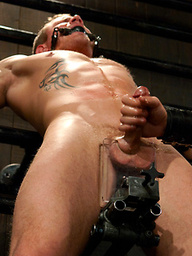 Christian Wilde fucks Trent Diesel in bondage like a mad man.