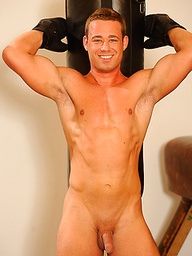 Jan Cerny strokes dick in a gym