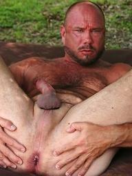Brutal Bear James Anthony posing