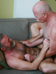 Two hot mature boys fuck each other