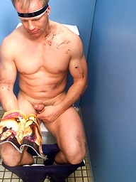 Daz strokes dick in a toilet