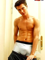 Muscled twink naked