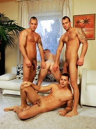 Four guys get undressed. no fuck