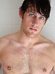 Hairy stud Chad naked
