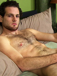 Hairy stud Ray jacking off