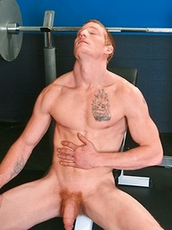Max Thrust shows his biceps and dick