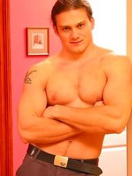 Long hair muscle stud from Czech