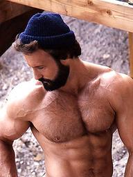 Mature muscle man George Dana