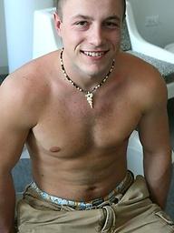 Cute college stud Heath stripping