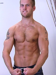 Muscle stud jacking off
