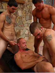Christian Wilde, Anthony Smith, Beaux, Patrick Rouge and Zack Cook in gay orgy