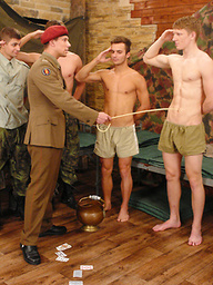 EYoung european soldiers orgy
